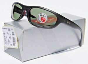 f6142ffde9 Image is loading RAY-BAN-Predator-POLARIZED-Sunglasses-Matte-Black-Green-