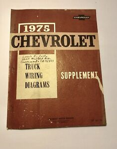 1975 Chevrolet Truck Wiring Diagrams Supplement squarebody ...