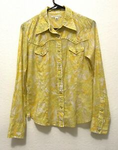 30a0591119d Image is loading Banana-Republic-Women-Long-Sleeve-Yellow-White-Floral-