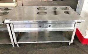 Gas 6 Well Water Bath Steam Table Hot Food Buffet & Round ...