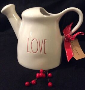 Rae-Dunn-LOVE-Watering-Can-Christmas-Edition-Red-LL-New