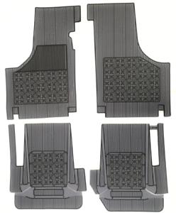 Set-4-Sovratappeti-Tappetini-in-Gomma-Grigio-e-Nero-per-FIAT-500-D-F-L-R
