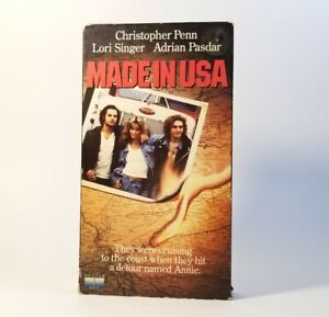 Made In USA (VHS 1988) VGC Tested! Christopher Penn, Lori Singer, OOP