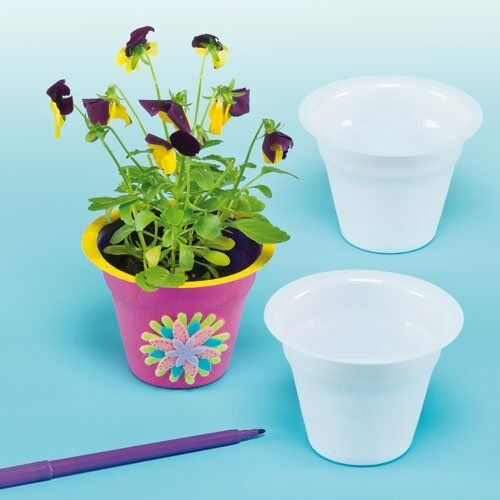 Delivery White Plastic Flower Pots Size 65cm For Kids To Paint
