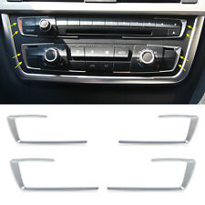 4x Interior central Chrome Dashboard Console cover trim for BMW F30 F32 F34 420