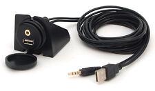 USB AUX IN Einbau Buchse Verlängerung Kabel Adapter KFZ