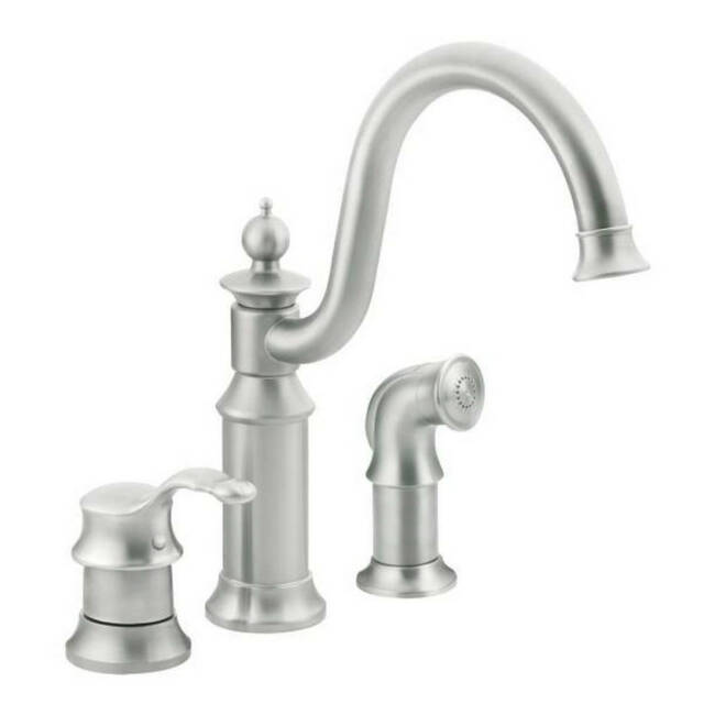 Moen S711csl Waterhill One Handle Kitchen Faucet In Classic Stainless For Sale Online Ebay