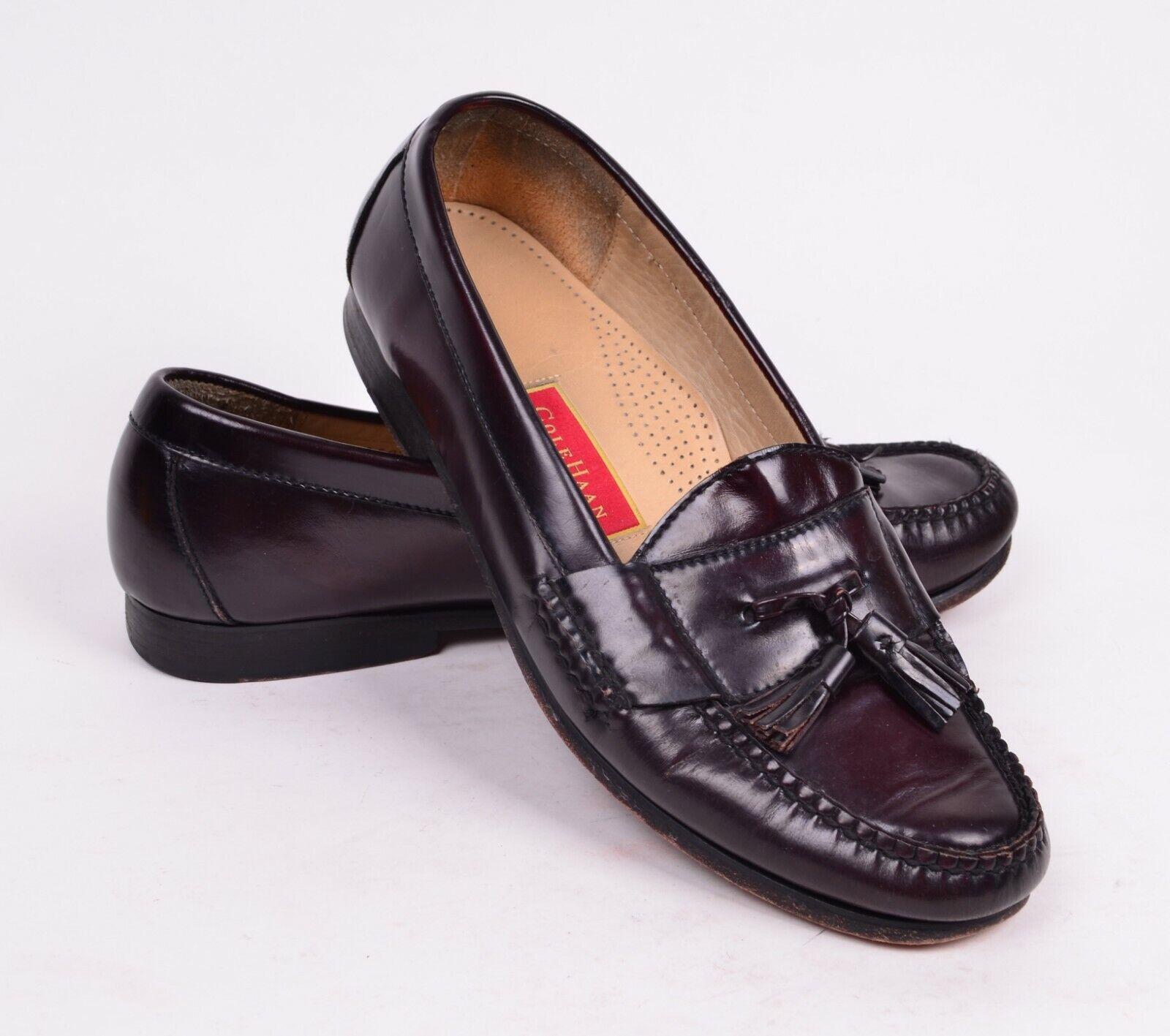 Cole Haan Men's 11 D Brown Leather Tassel Slip On Loafers 77623