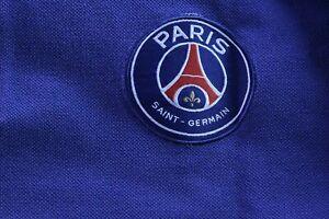 Paris-Saint-Germain-Poloshirt-Herren-Gr-L-Blau-weiss-Rot-PSG-Paris-Fussball-Polo
