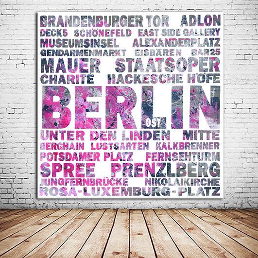 BERLIN CALLING 2  + Berlin LEINWAND BILD + 60x60 cm + EINMALIG zum BESTPREIS