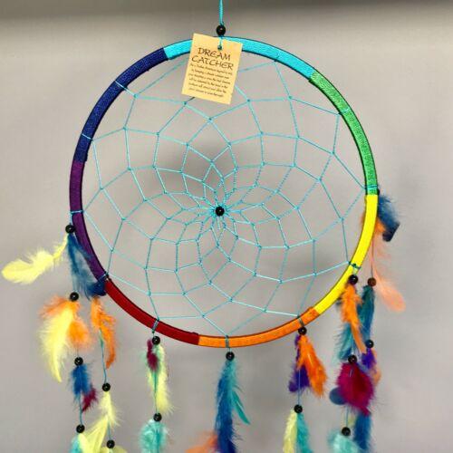 Nouveau Grand Rainbow Dream Catcher Native American Wall Hanging mobile hippy rétro