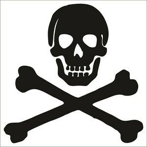 Skull And Cross Bones Decal Sticker Choose Color