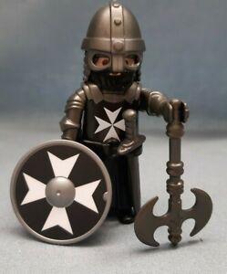 Bichons-Maltais-chevalier-noir-Playmobil-Berserker-croises-Crusader-Jerusalem-1155