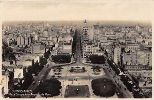 CPA-ARGENTINE-BUENOS-AIRES-PLAZA-CONGRESO-Y-AVENIDA-DE-MAYO