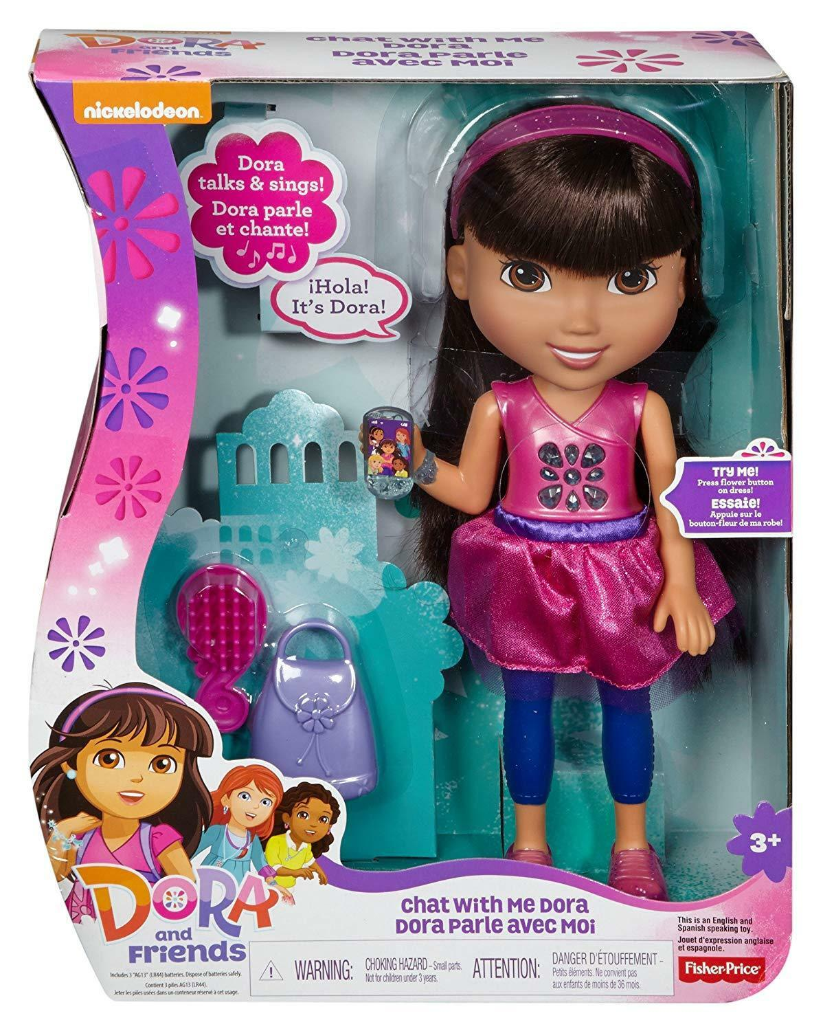 Fisher Price Dora vänner Chat With Me Doll Ages 3e New leksak spela flickor Gift Fun