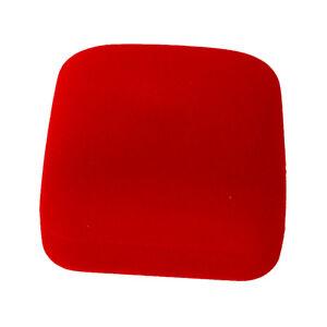 1 Jewel case box red gift rings earrings jewelry velvet display LW