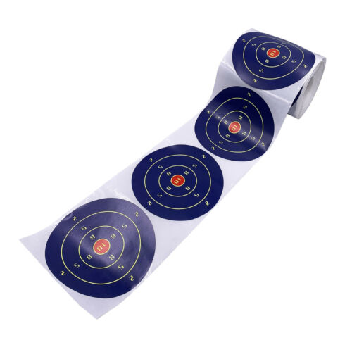 200Pcs//Roll 4inch Self Adhesive Paper Reactive Splatter Shooting Target Stickers