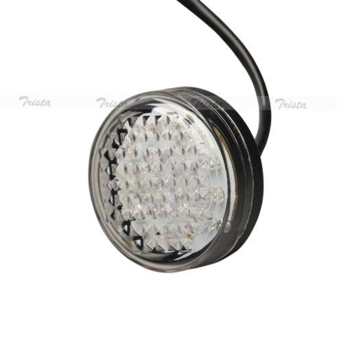 2x20 LED Amber Round Motorcycle ATV Bike Turn Signals Indicator Light Clear #B9