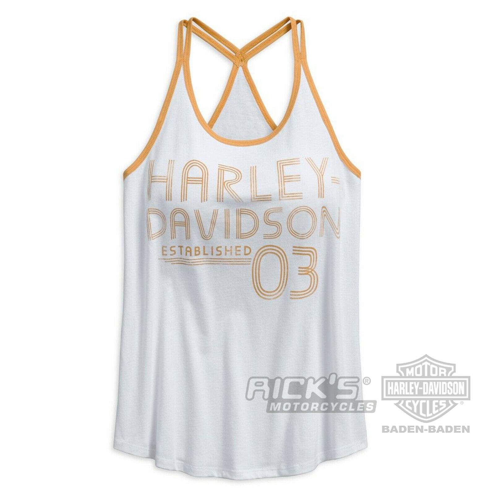 Rick `s HARLEY DAVIDSON donna canottiera - Maglia 96241-18vw