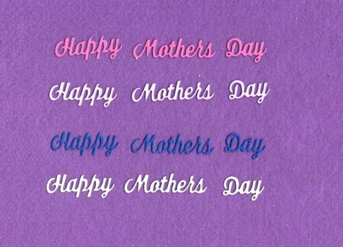 HAPPY MOTHERS DAY die cuts scrapbook cards