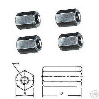 Sechskant- Verlängerungsmutter 4 Stück M8 x 1,25 DIN