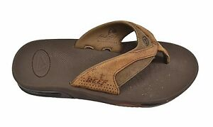 Image is loading Reef-LEATHER-FANNING-Brown-Bottle-Opener-Signature-Arch-
