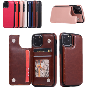 Leather Wallet Card Slot Case Cover For iPhone 12 11 Pro Max X XS XR 8 7 6S Plus