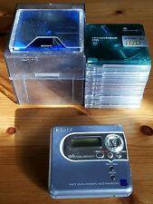 SONY MZ-NH600 Hi-MD Portable Minidisc Recorder + 1x Hi-MD Disc + 10x Minidiscs