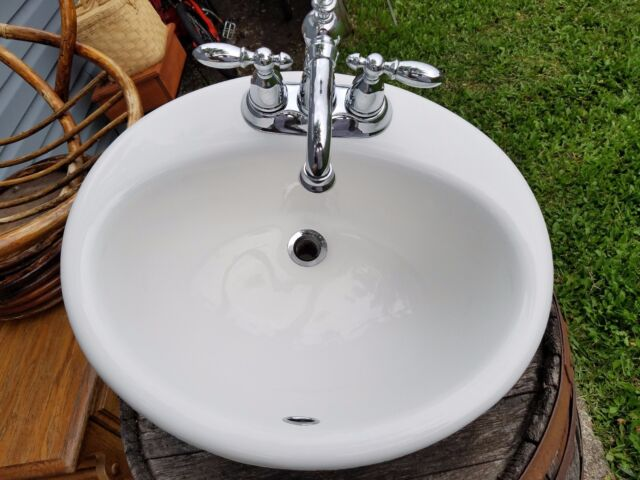 ebay bathroom sinks kohler drop in cast iron sink 2904 bathroom oval bath 12761