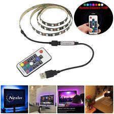 1m 5V 5050 RGB LED Strip Light TV Back Lighting Kit+USB 17Key RF Wireless Remote