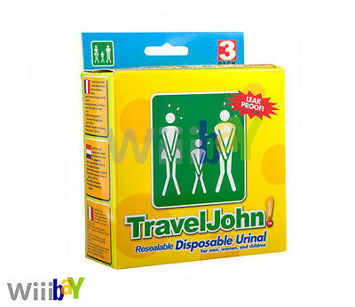 Travel John Resealable Usa E Getta Unisex Urinal-mostra Il Titolo Originale