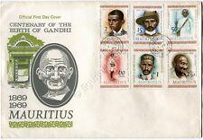 Mauritius 1969 Ritratti di Gandhi Busta originalie FDC portraits first day cover