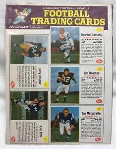 Rare-1962-NFL-Football-Uncut-Panel-Post-Cereal-Jerry-Kramer-Mutscheller-Etc