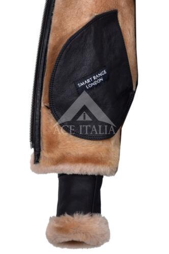 Ladies Sheepskin Jacket Brown Beige FUR Hooded FULL SOFT REAL LEATHER F-05