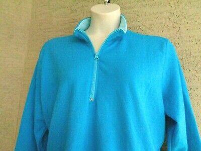Just My Size Lighter Weight  Fleece Lined 1//4 Zip Mock Neck Sweatshirt 1X Iris