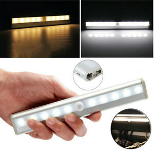 Details About Battery Operated Led Drawer Under Cabinet Light With Pir Sensor Kitchen Cupboard