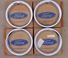 "NOS 1966 Ford Mustang WHEEL TRIM MOLDINGS Original OEM set 4 Beauty Rings 14"" gt"