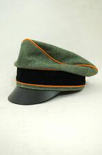 WWII German Wool Field Police Crusher Visor Cap Waffen Elite