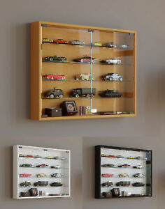 Glass Display Cabinet Wall Mounted Wide Large Toys Vapes Various