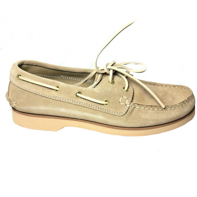 FLY 3 chaussure Wildleder Herren ungefüttert beige 100% Leder made in italy