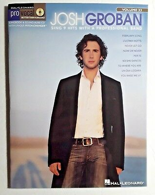 """Josh Groban Cd """"pro Vocal Series For Male Singers Sing With A Band Volume 33"""