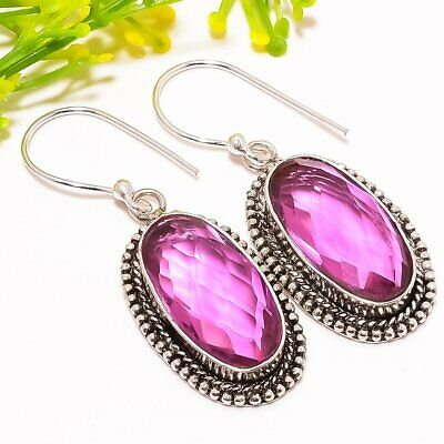 "Bi-color Tourmaline Gemstone Fashion Jewelry Earring 1.7"" Se5171 An Enriches And Nutrient For The Liver And Kidney Earrings"