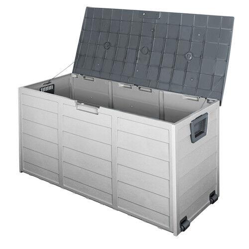 290L Plastic Outdoor Storage Box Container Weatherproof Grey