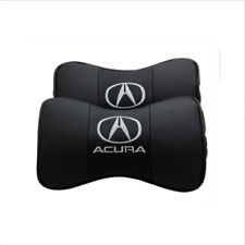 Suitable For 2pcs Real Leather Car Seat Neck Cushion Pillow Acura