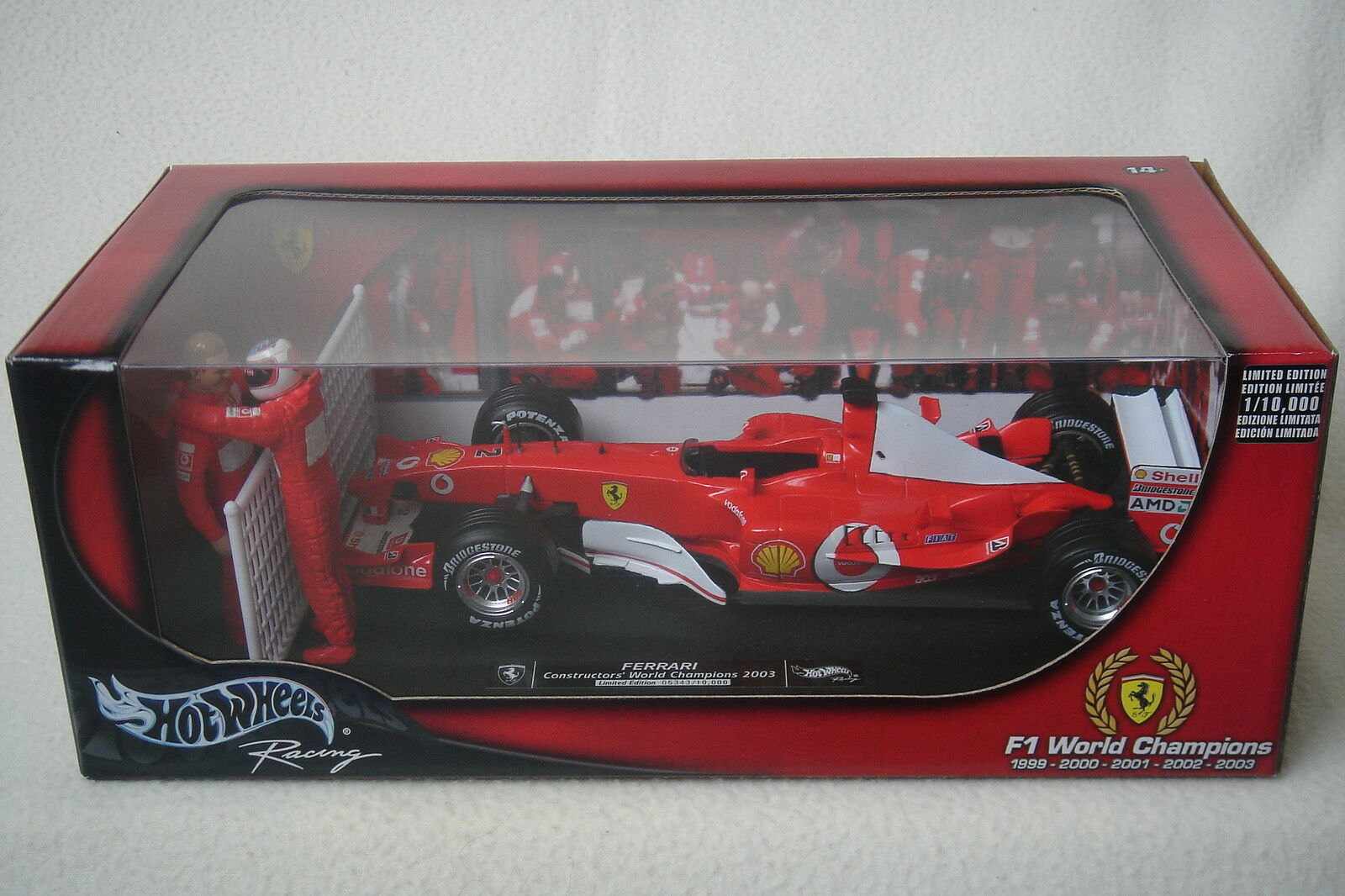 Hot Wheels 1 18 Ferrari F1 World champions Michael Schumacher matg 3764