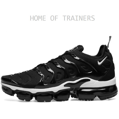 the best attitude 6a40c 50327 Nike Air Vapormax Plus Black And White Girls Women's Trainers All Sizes |  eBay