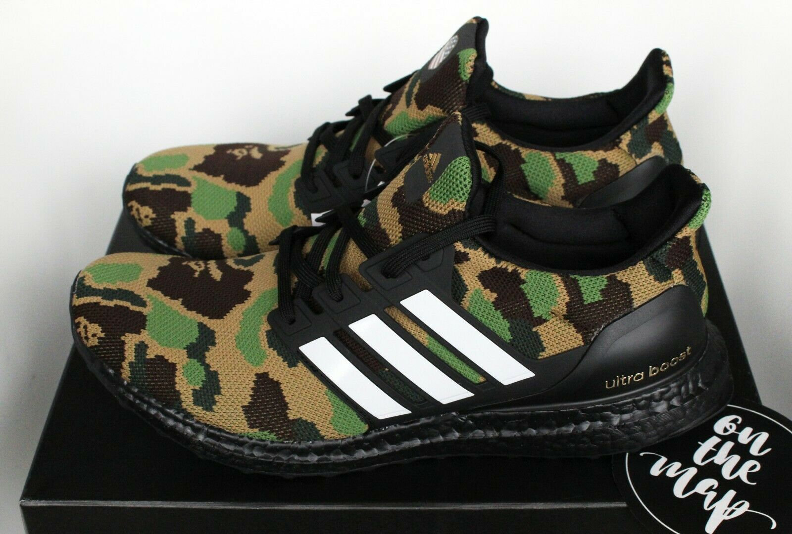 Adidas x Bape Ultra Boost Green Camo Superbowl SB US New