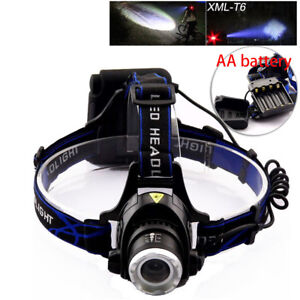 AA-Battery-head-Headlamp-flashlight-led-T6-Torch-Outdoor-For-Hunting-Powerful