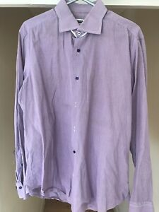 Pal Zileri Shirt Men Size 16.5 / 42 Made In Italy Long Sleeve