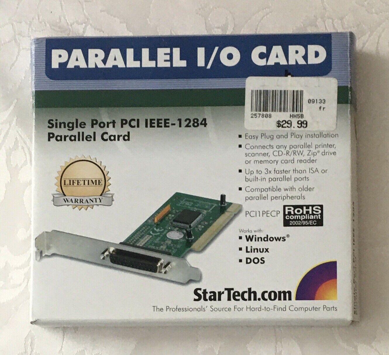 NIB StarTech Single Port PCI IEEE-1284 Parallel I/O Card